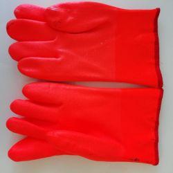 Перчатки резиновые ( утеплeнные)