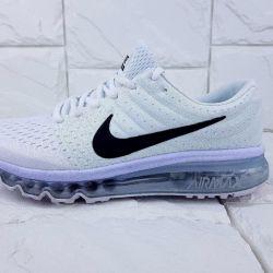 Ανδρικά πάνινα παπούτσια για τις γυναίκες Nike Air Max 2017 λευκό 106009