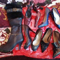 A package of stylish shoes. in new and excellent condition