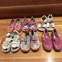 Обувь на девочку 25 размера