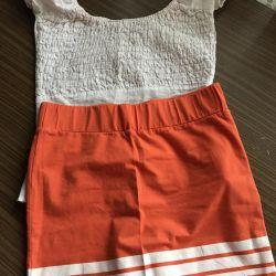 Blouse skirt blouse