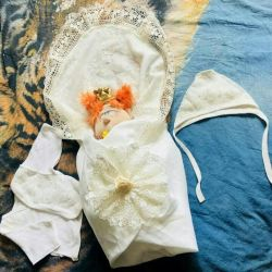 baby kit (envelope + bow + cap + blouse)
