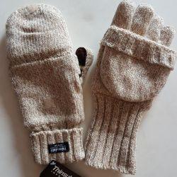 Sports gloves on fleece