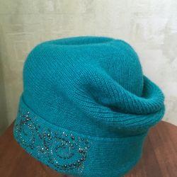Ζεστό καπέλο με στρας