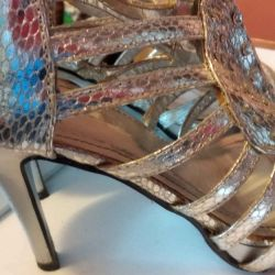 Very beautiful, silver sandals, p.39