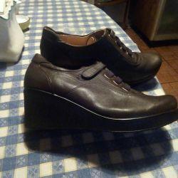 Ботиночки,кожа, новые 38 р