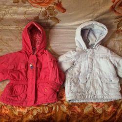 Куртки на весну 6-12 месяцев