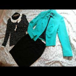 Jacket, blouse, skirt 44 r