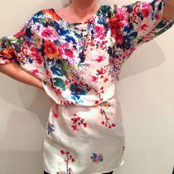 Νέα μπλούζα - Zara μακρύ χιτώνιο με λουλούδια