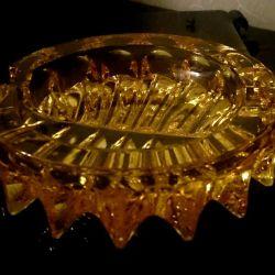 Scrumiera de cristal sovietic