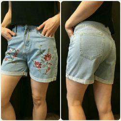 New denim shorts