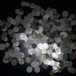Coins of the USSR, England, USA, GDR