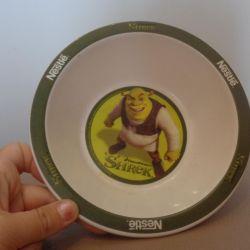 Children's plate with shrek