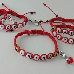 Personalized bracelet against the evil eye for you and your child