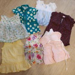 Bir kız için elbiseler