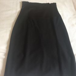 Skirt with a high corset belt, wool / Italy / R.S