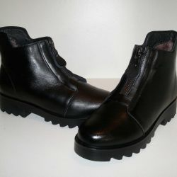 Boots Winter 36r Genuine Leather + Natural Fur