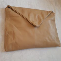 Clutch bag (leather)
