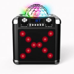 iDance Sing cube BC100L Portable Speaker Disco Bal