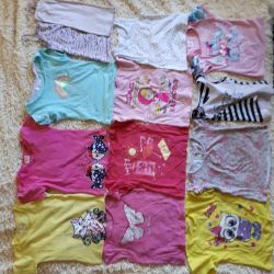 T-shirts package for girl 3x -4 years