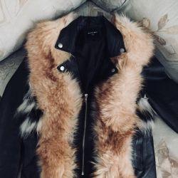 Fur Vest + Leather