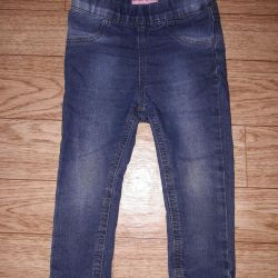 Jeans for slender girls 12-18 months.