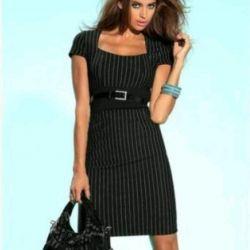 Dress business Laura Scott black striped new