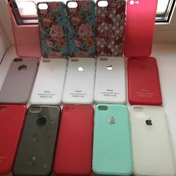 Cases and glasses on IPhone 7: 8