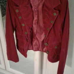 Burgundy Cord Jacket