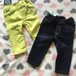 New children's jeans 74-80