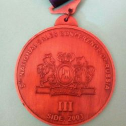 Medal from the sales conference
