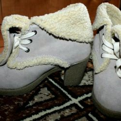 Ботинки зимние из натуральной замши