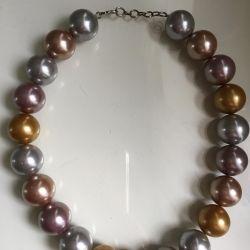 Pearls Mallorca colorat colier mare