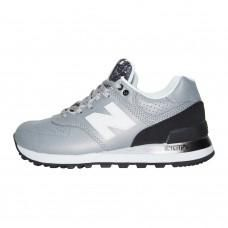 Sneakers New Balance 574 Leather Gray Black