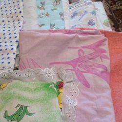 κουβέρτα και πάπλωμα και πάνα