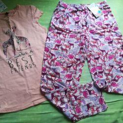 Ένα νέο κοστούμι - παντελόνι και μπλουζάκι