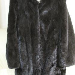 Mink Fur Coat cu Rack