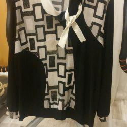 Блуза большого размера 52-54 +МНОГО ДРУГИХ ВЕЩЕЙ