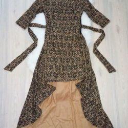 Платье шлейф новое