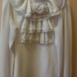 Нарядная блузка.р.128-134