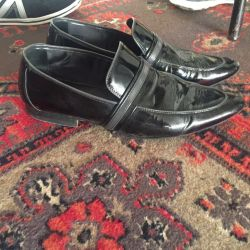 Men's patent leather shoes