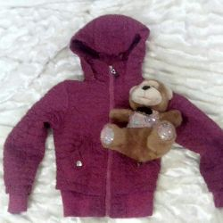 Jacket for the girl + a toy as a gift