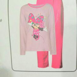 Kızlar için yeni pijamalar Minnie Mouse