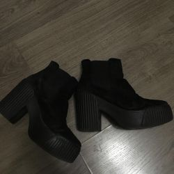 Topshop natural suede boots