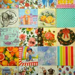 Paper napkins set decoupage gifts crafts
