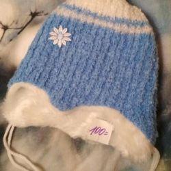 Χειμερινό καπέλο για νεογέννητα