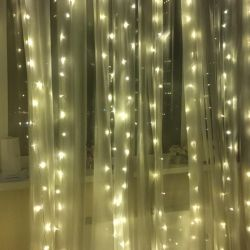 Garland curtain 3x3m led ice diodes white warm