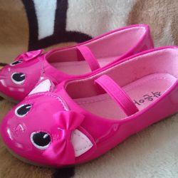 Туфли розовые с кисками