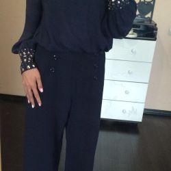 Suit pants + blouse