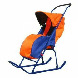 Sledge stroller foldable